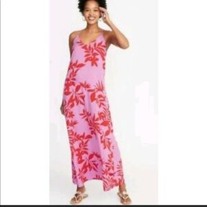 Old Navy tropical print maxi dress